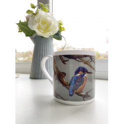 mug-birds-kingfisher-breakfast-branch-suzanne-perry-art
